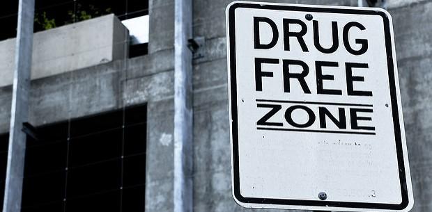 Drug Free Zone. Photo credit: Difei Li (Flickr) Creative Commons