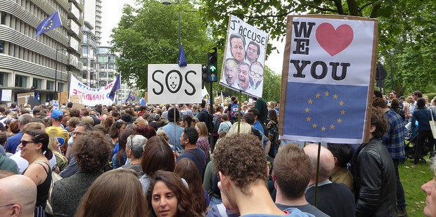 March for Europe, London 2016. Photo credit: duncan c (Flickr) Creative Commons