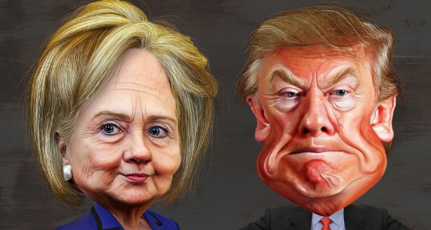 Hillary Clinton and Donald Trump. Photo credit: DonkeyHotey (Flickr) Creative Commons