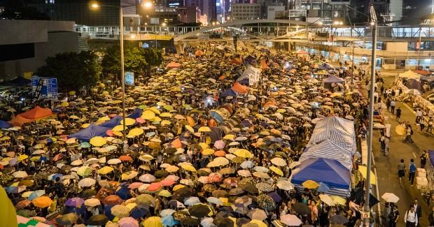 31th Day Hong Kong Umbrella Revolution. Photo credit: Studio Incendo (Flickr) Creative Commons