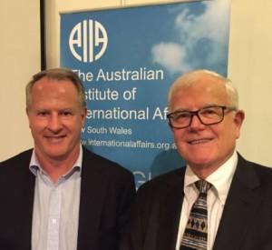 Dr Roger Shanahan (left) and AIIA NSW vice-president Ian Lincoln