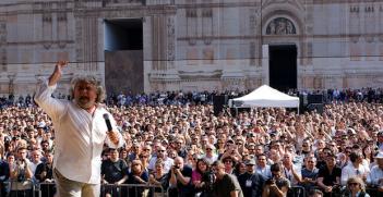 Beppe Grillo. Photo Credit: Giovanni Favia (Flickr) Creative Commons