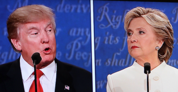 Clinton-Trump. Photo Credit: Bill B (Flickr) Creative Commons