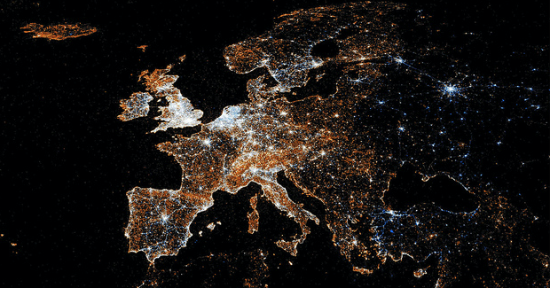 Europe_Map. Photo Credit: Eric Fischer (Flickr) Creative Commons
