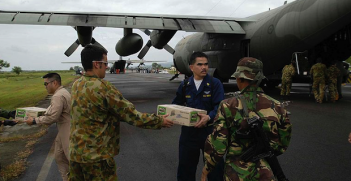 Aus, US and Indonesian aid Photo Credit: Airman Patrick M. Bonafede (Wikimedia Commons) Creative Commons