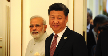 Xi and Modi Photo Credit: Presidential Press and Information Office (Wikimedia Commons) Creative Commons