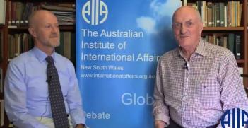 Professor Trevor Findlay Interview Photo Credit: AIIA NSW (YouTube Screenshot)