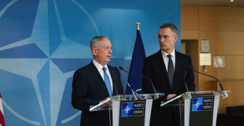 Jim Mattis at NATO Photo Credit: DOD photo by U.S. Air Force Tech. Sgt. Brigitte N. Brantley (Flickr) Creative Commons