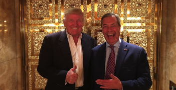 Trump and Farage Photo Credit: Farage Twitter (Wikimedia Commons) Creative Commons