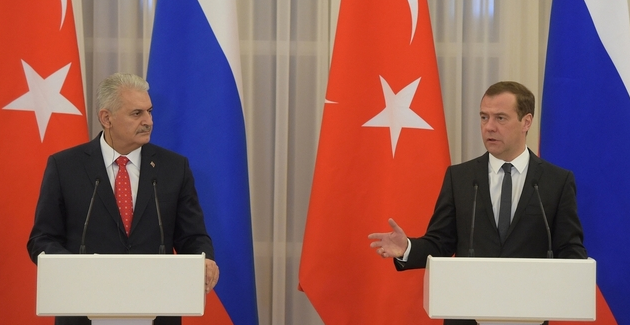 Turkish Prime Minister Binali Yildirim and Russian Prime Minister Dmitry Medvedev Photo Credit: Russian Government Creative Commons