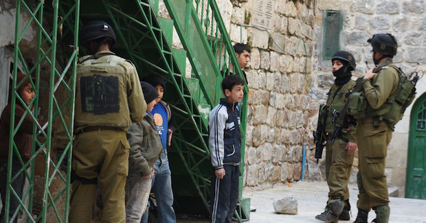 Children being detained by Israeli soldiers Photo Credit: Christian Peacemaker Teams (Wikimedia Commons) Creative Commons