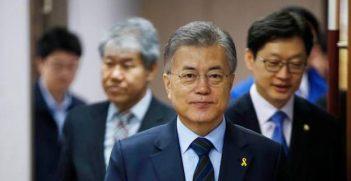 South Korean President Moon Jae-in (from Facebook)