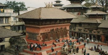 Durbar Square, Kathmandu. Bernard Gagnon (Wikimedia Commons).