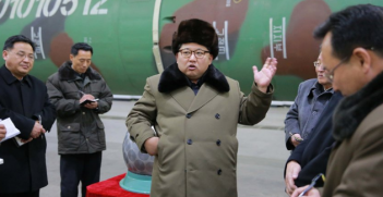 Kim Jong Un. Photo from Twitter account of the People's Daily.