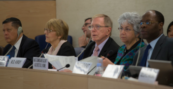 The United Nations Commission of Inquiry on North Korea formally presented its report to the Human Rights Council March 17, 2014. Eric Bridiers (Wikimedia Commons).