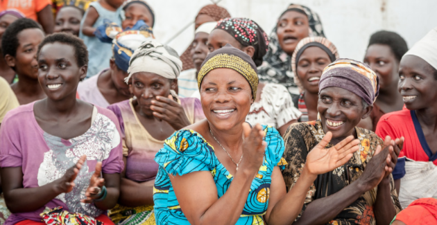 Women in the Lusenda refugee camp in the Democratic Republic of the Congo. UN Women/Catianne Tijerina (Flickr).