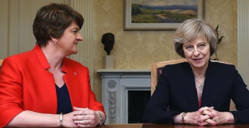 DUP Leader Arlene Foster (L) with Prime Minister Theresa May. Photo: @STVNews