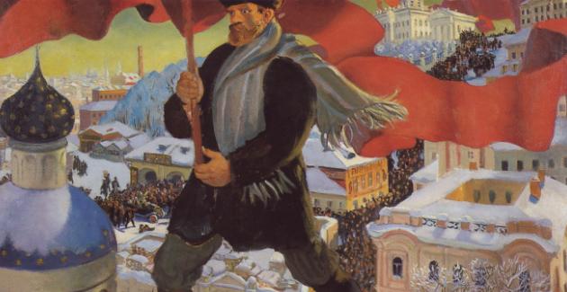 Boris Kustodiev's 1920 painting,