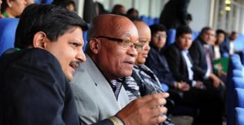 Atul Gupta (L) and Jacob Zuma. Photo: @MarcusMarvinn