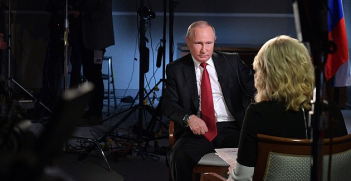 Vladimir Putin's interview with Megyn Kelly. Photo: The Kremlin