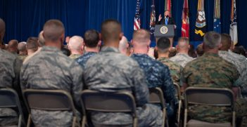 President Trump Address at Fort Meyer on South Asian Strategy / Photo by Army Sgt. Amber I. Smith, US Joint Chiefs of Staff.