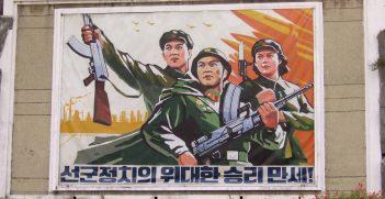 North Korean Propaganda Poster / Pic by Will de Freitas