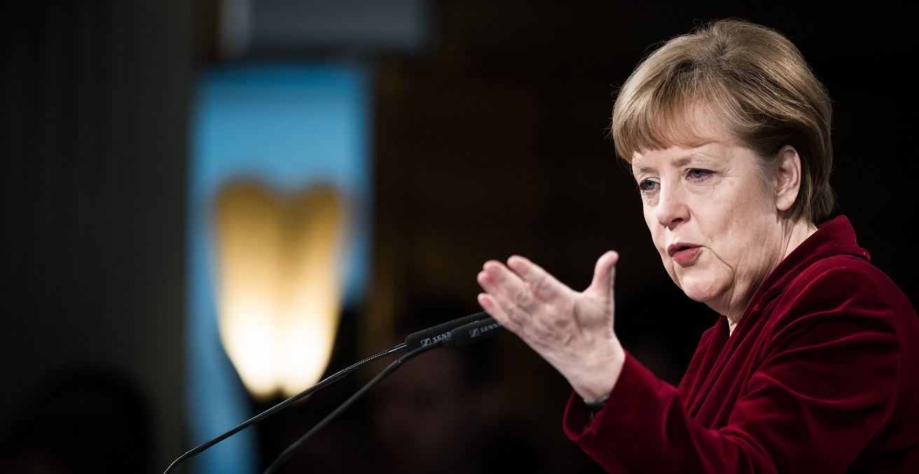 Dr. Angela Merkel speaking at the Munich Security Conference 2015