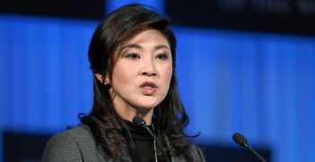 Yingluck Shinawatra, speaking at the World Economic Forum