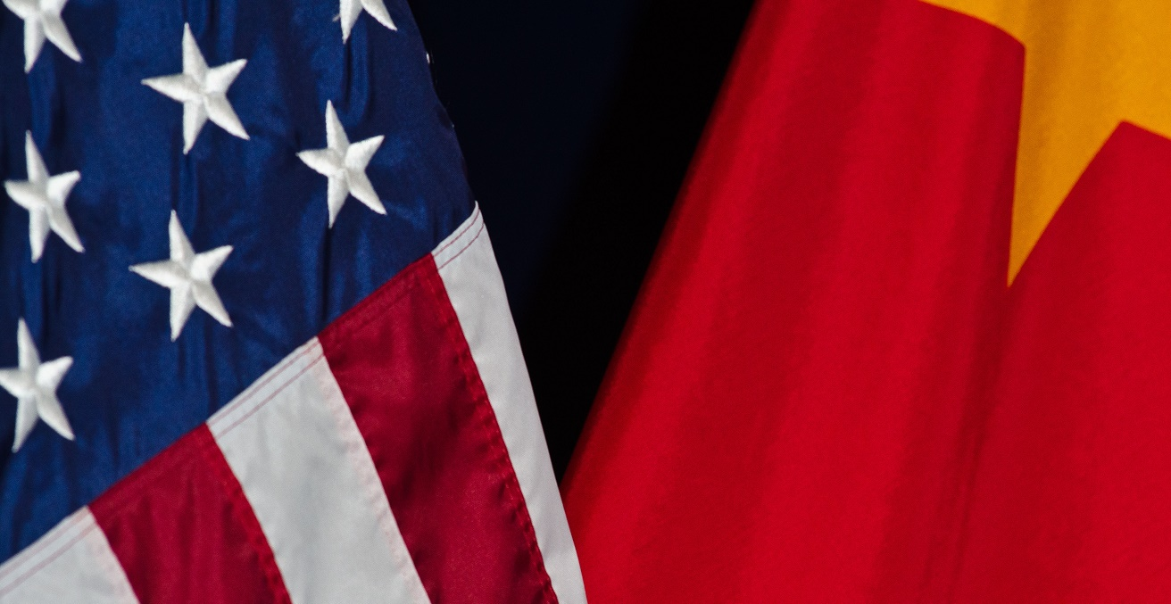 U.S. and China flags at the 23rd Session of the U.S. China Joint Commission on Commerce and Trade