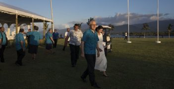 Prime Minister Malcolm Turnbull and Senator Concetta Fierravanti-Wells attending the Pacific Islands Forum