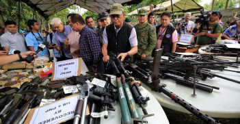 Recovered firearms from local terrorists in Marawi on June 9, 2017
