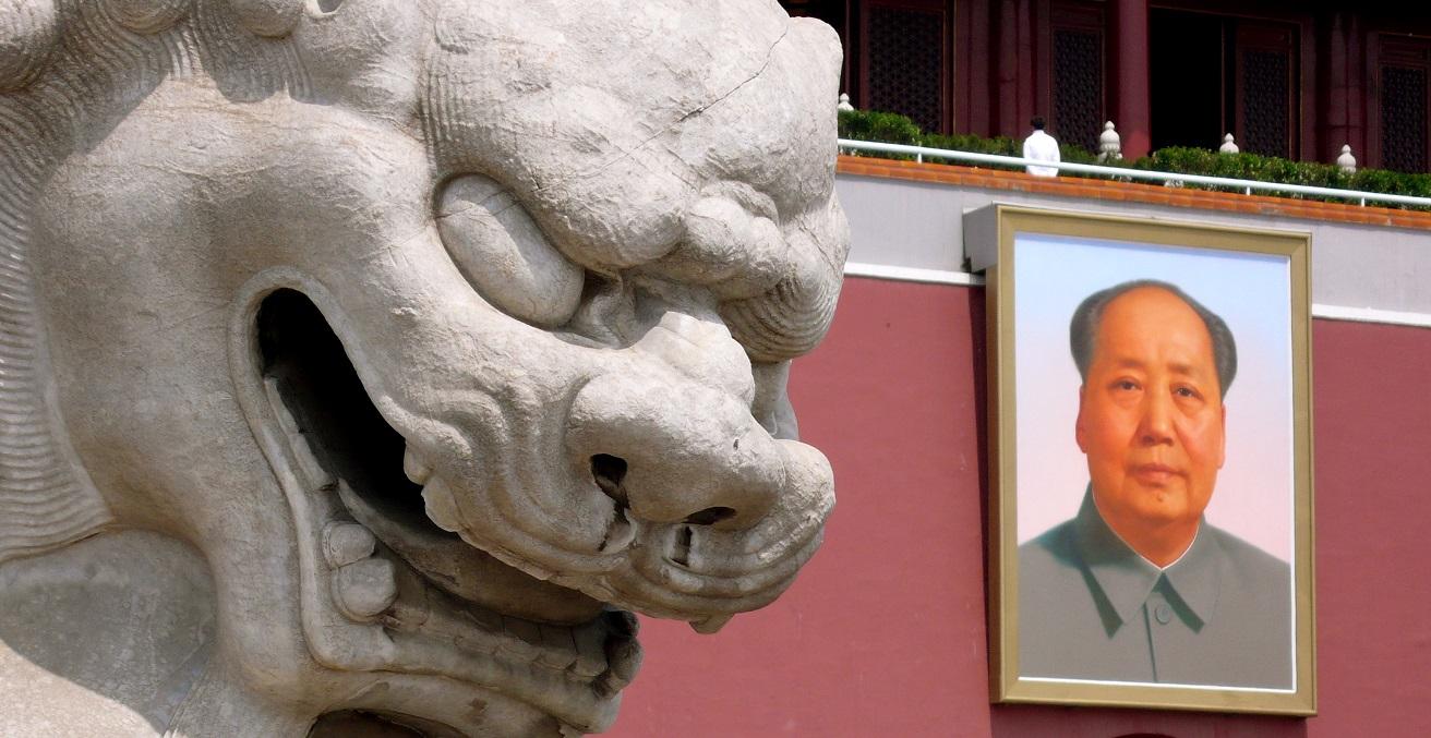 Picture of Mao in Tiananmen Square