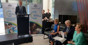 Foreign Minister Julie Bishop at the launch of the Indo-Pacific Centre for Health Security
