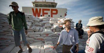 Australian aid being unloaded in Sumatra