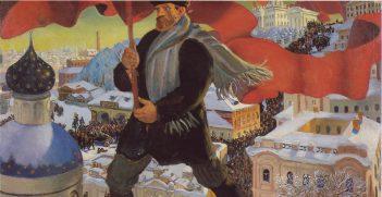 The Bolshevik-by Boris Kustodiev