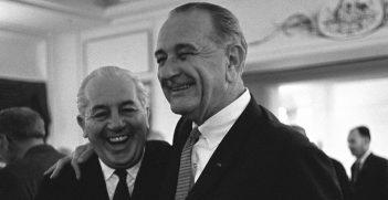 Harold Hold meets American President Lyndon Johnson
