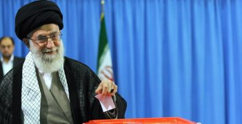 Ayatollah Khamenei casts his vote in Irani elections