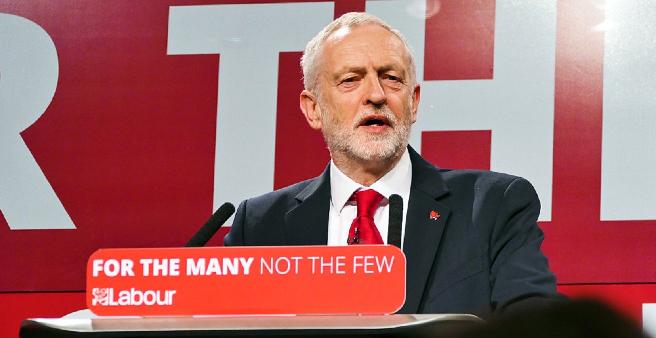 Jeremy Corbyn speaks during his election campaign launch