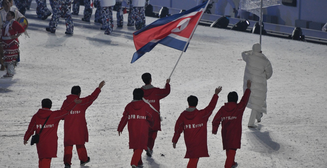 The North Korean team at the 2010 games