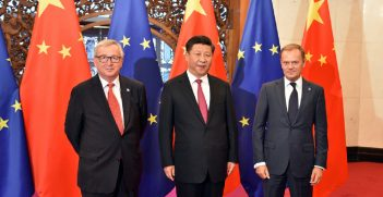 Chinese Premier Xi Jinping meets with EU Council President, Donald Tusk and EU Commission President Jean Claude Junker