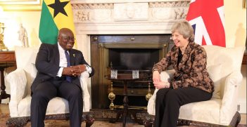President Akufo Addo meets UK Prime Minister Theresa May