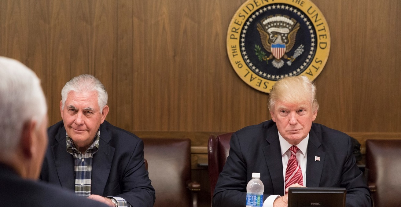 Trump meets with Rex Tillerson and Mike Pence