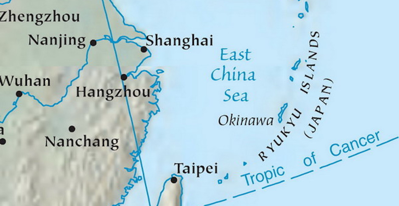 East China Sea map (source: Wikimedia Commons)