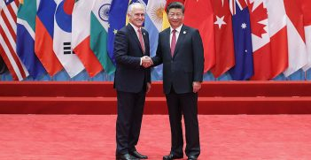 Xi Jinping and Malcolm Turnbull at the G20 Summit Hangzhou
