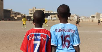 Young boys dream of playing for big European soccer clubs, Dakar 2015 (Mark Hann).