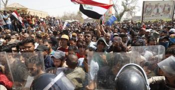 Basra Protest Southern Iraq