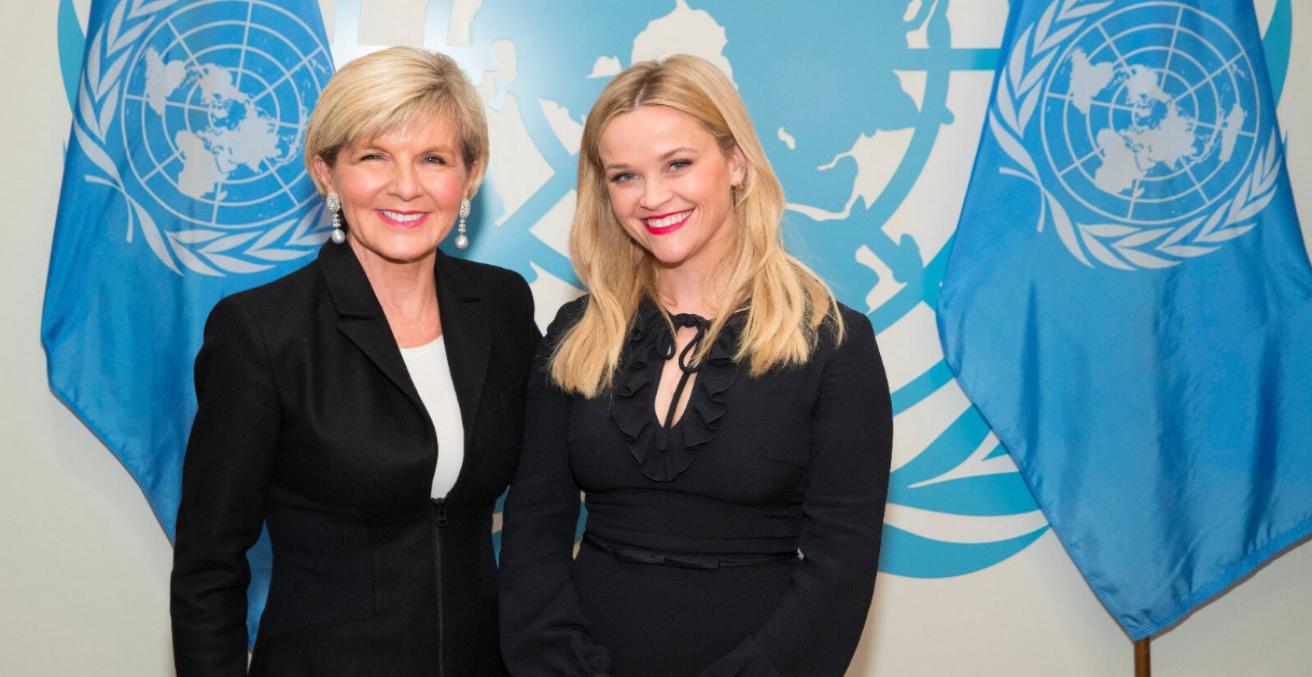 Julie Bishop delivering key note on UN International Women's Day.