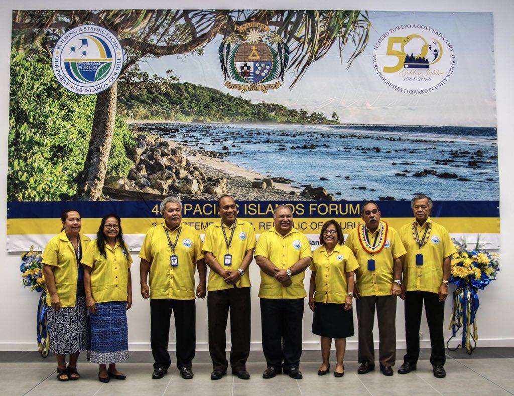 Pacific Islands Forum Nauru 2018. Credit: Twitter @ForumSEC