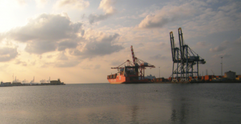 The container terminal at the Port of Djibouti, Djibouti (Credit: Wikipedia Commons)