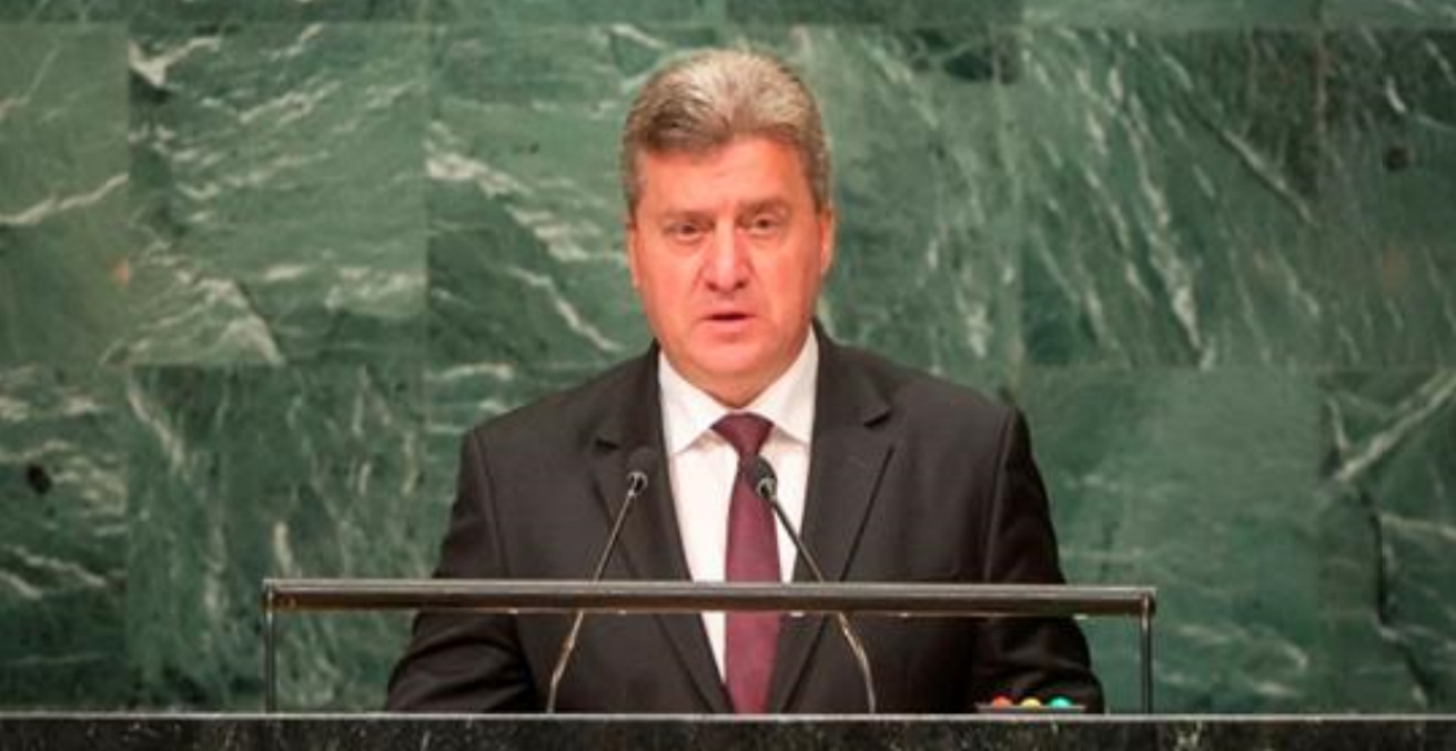 Gjorge Ivanov, President of the Republic of Macedonia at the UN (credit: author)